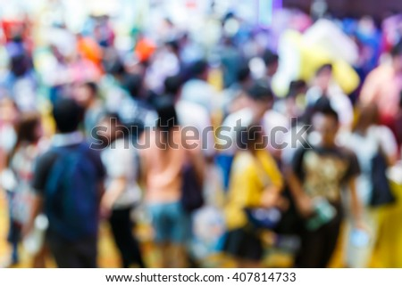 Abstract blur people shopping in department store, urban lifestyle concept