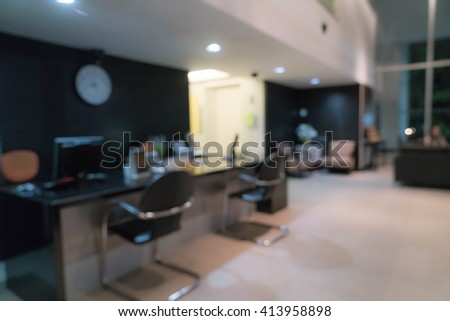 abstract blur reception office for background