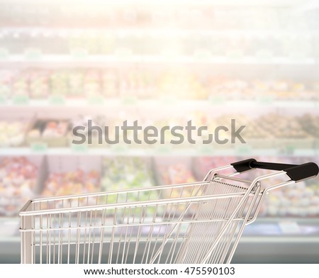 Abstract Blur Shopping Market of The Background
