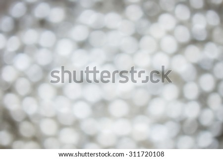 Abstract blur silver pearls background - stock photo