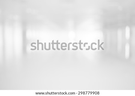 Abstract Blur white room  for background - stock photo