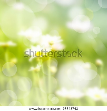 Abstract blured nature background