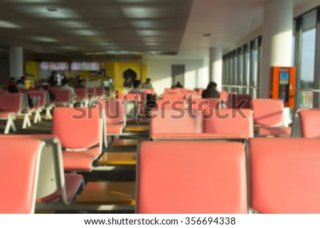 abstract blurred airport terminal for background - stock photo