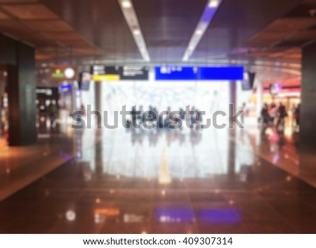 Abstract Blurred background : airport boarding area - stock photo