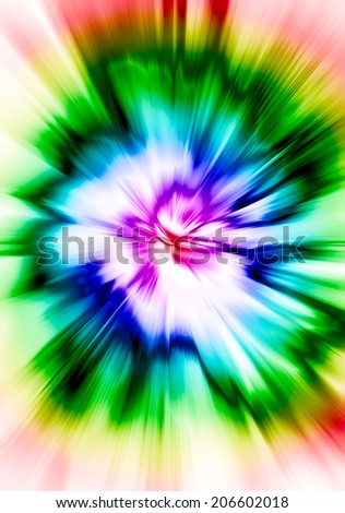 Abstract blurred background. Blurred effect, bright colors. Flash, a bright star with psychedelic rainbow gradient.
