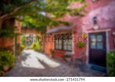 Abstract blurred background. italian building style - stock photo