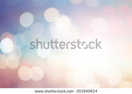 abstract blurred backgrounds of twilight backdrop with circle lights in pastel tone. - stock photo