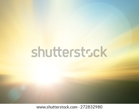Abstract blurred beautiful sunset or sunrise background. World Environment Day concept. Ecology concept,  - stock photo