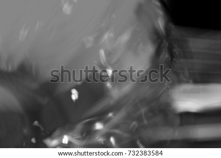 Abstract blurred black and white background