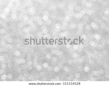 abstract blurred Christmas lights silver - stock photo