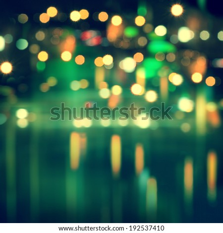 Abstract blurred cityscape background with bokeh effect.  - stock photo
