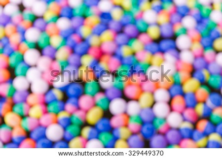 Abstract blurred colorful plastic ball background