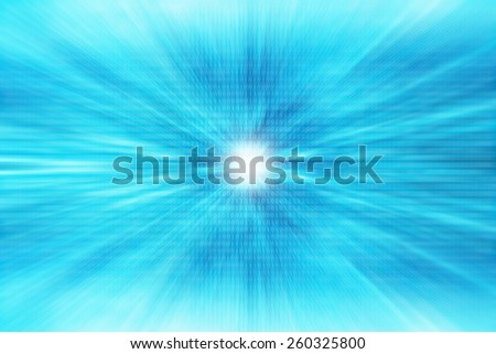 Abstract blurred digit blue background - stock photo