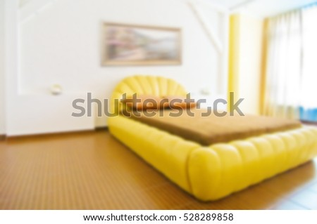 abstract blurred image. Background interior residential rooms of the house inside with furniture. Bedroom