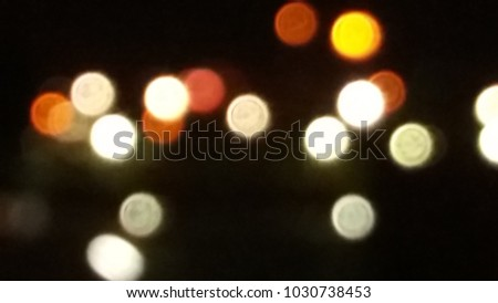 Abstract blurred light bokeh, defocused background