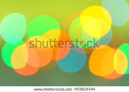 Abstract blurred lights christmas background.