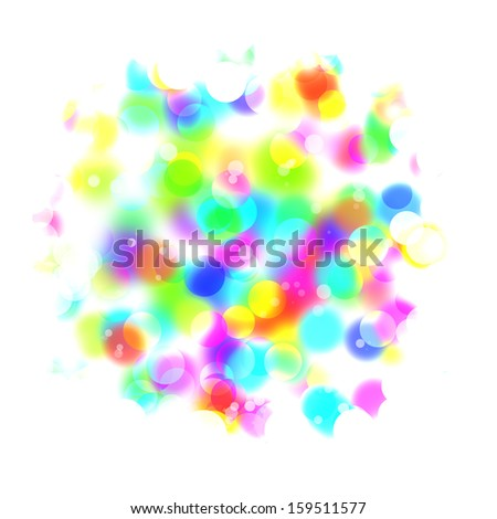 Abstract blurred lights isolated on white background