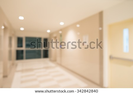 Abstract blurred modern elevator hall interior background - stock photo