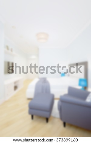 Abstract blurred modern living room background 3d render