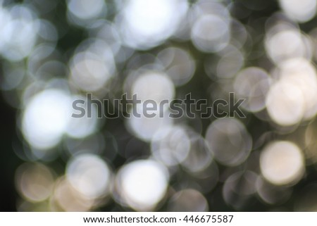 Abstract, blurred nature background, bokeh circles fon