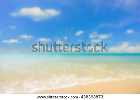 Abstract blurred of beautiful beach background.
