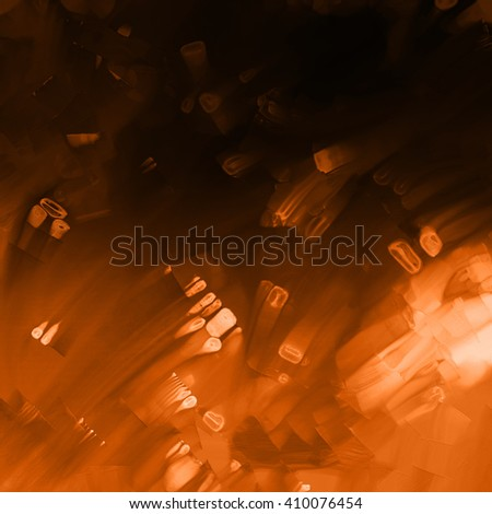 abstract blurred orange lights background