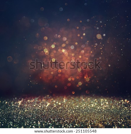 abstract blurred photo of bokeh light burst and textures. multicolored light - stock photo