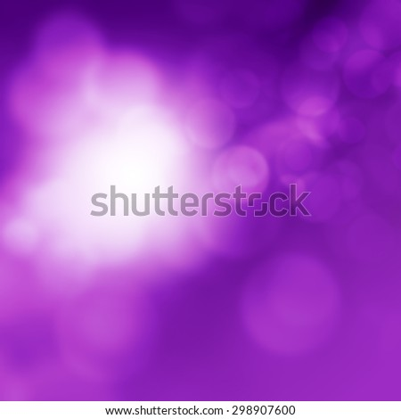 Abstract blurred purple background with bokeh lights - stock photo
