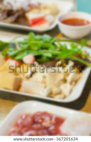 Abstract blurred Raw food, Healthy Concept