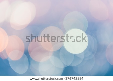 Abstract blurred soft light bokeh background, Pastel colour style - stock photo