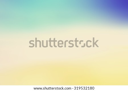 Abstract blurred textured background: yellow orange and blue patterns. Blurred nature background. Beautiful oceans and bright sun light. Summer Holidays, World Environment, Earth Day concept - stock photo