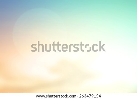 Abstract blurred textured background: yellow orange green blue patterns. Blurred nature background. Beautiful oceans and bright sun light. Summer Holidays, World Environment, Earth Day concept. - stock photo