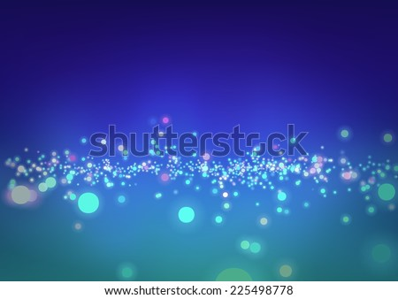 Abstract Blurry Background - Glowing Space Illustration