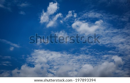 Abstract blurry bokeh background of Soft focus clouds blue sky with rays sunlight day time. Blur backdrop heaven for web. White gradient texture beauty. View city summer.