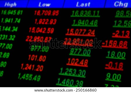Abstract  board stock  blurred background