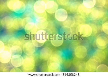 Abstract bokeh and blurred background