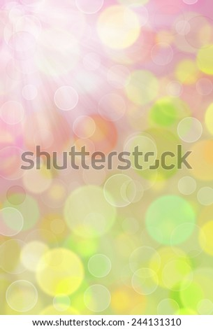 abstract bokeh and blurred colorful spring background - stock photo