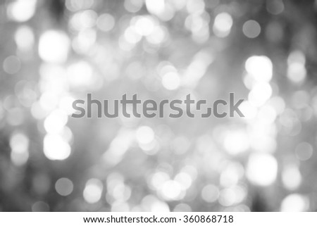 abstract bokeh background black white tone. - stock photo