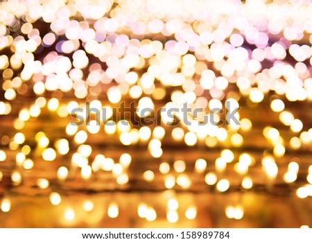 Abstract bokeh  background of Christmas lights - stock photo