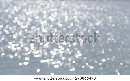 Abstract bokeh background on a water surface