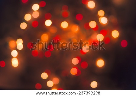 Abstract bokeh background red