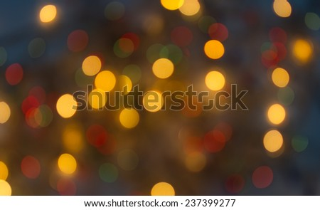 Abstract bokeh background with gold