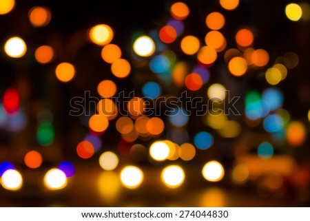 Abstract bokeh background with street