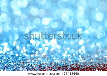 abstract bokeh blue lights defocused background - stock photo