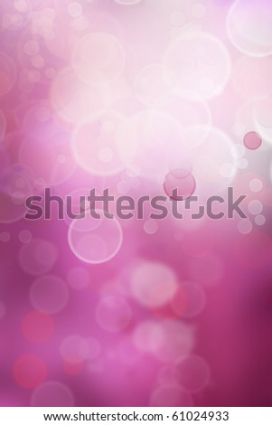 Abstract bokeh circles on soft purple tone background - stock photo