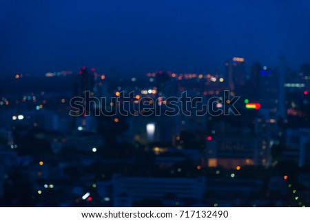 Abstract bokeh city night light - cityscape background