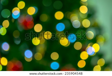 Abstract Bokeh color light of christmas tree - stock photo