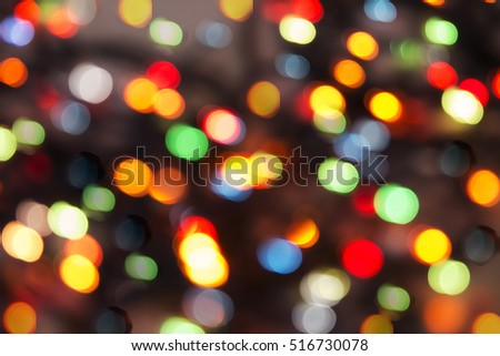 Abstract bokeh defocused background
