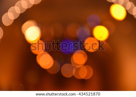 Abstract bokeh for background,night light