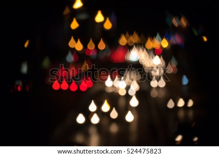 abstract bokeh from street light for background